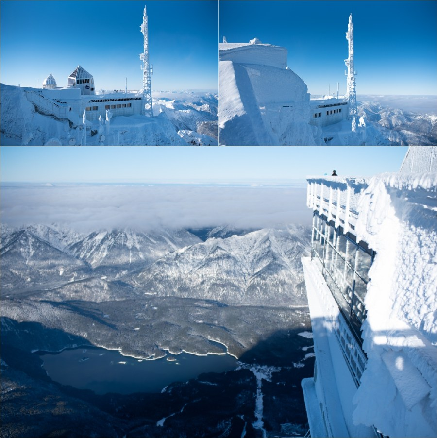 The views of the frozen station at the top of the Zugspitze by Aneta Lehotska
