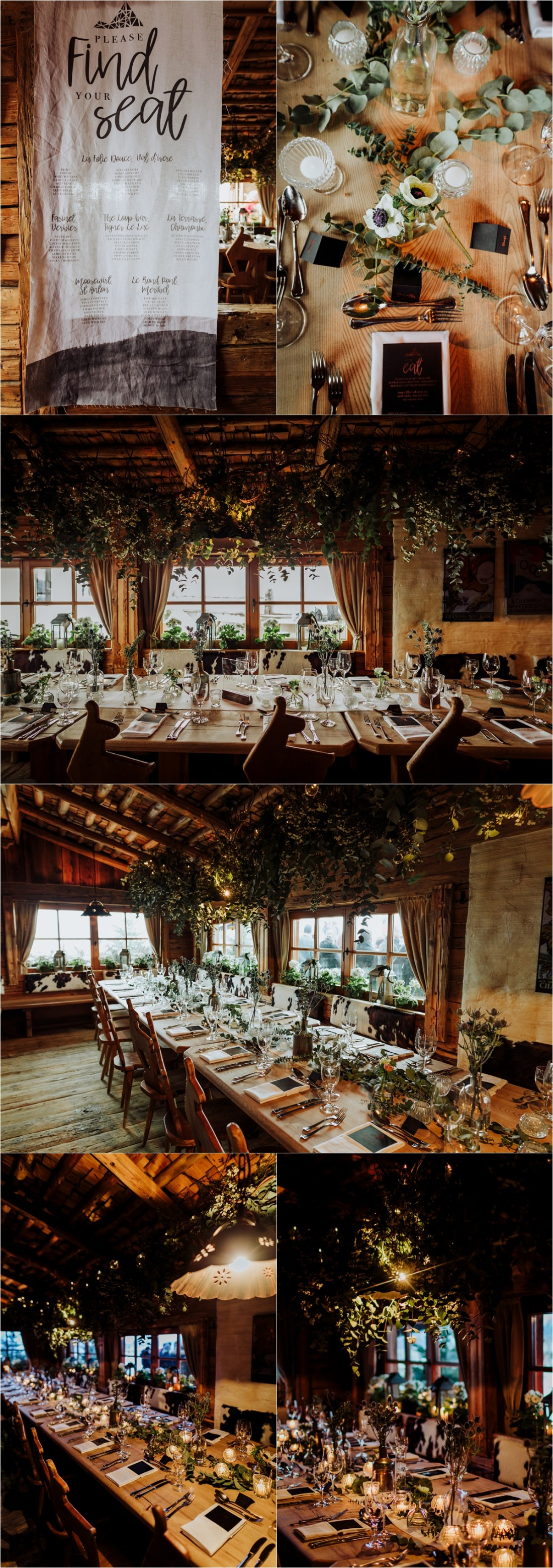 A magical winter garden feel for this ski lodge wedding in Austria by Wild Connections Photography