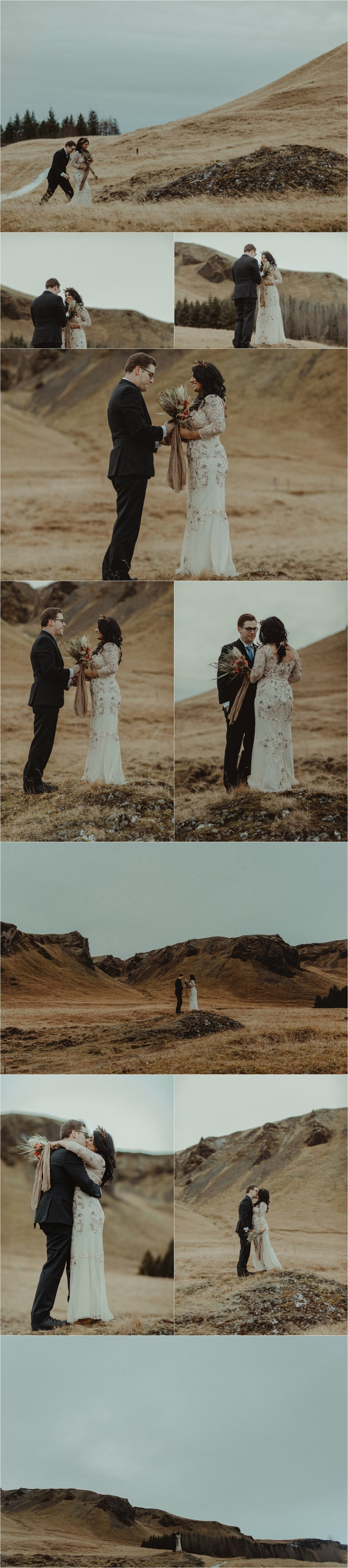 Vanna & Kevin exchange vows in the Icelandic countryside by Zakas Photography