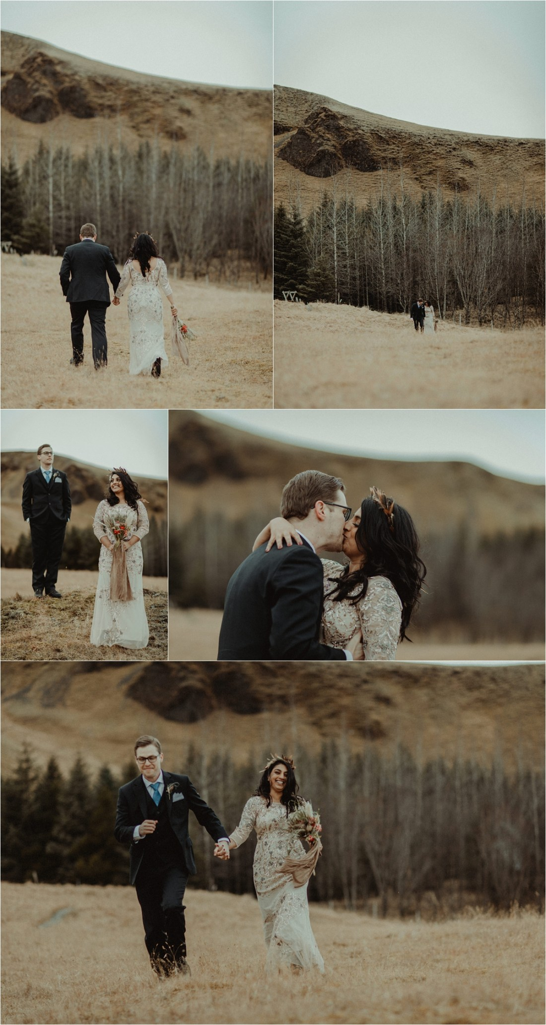 Vanna & Kevin elope at the side of the road in Iceland whilst escaping a blizzard by Zakas Photography