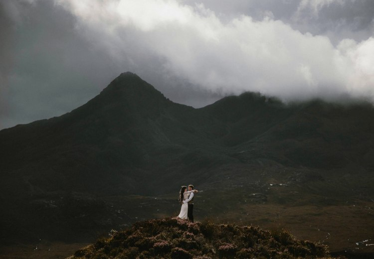 An Elgol Elopement on the Isle of Skye. Photos by The Caryls Photography