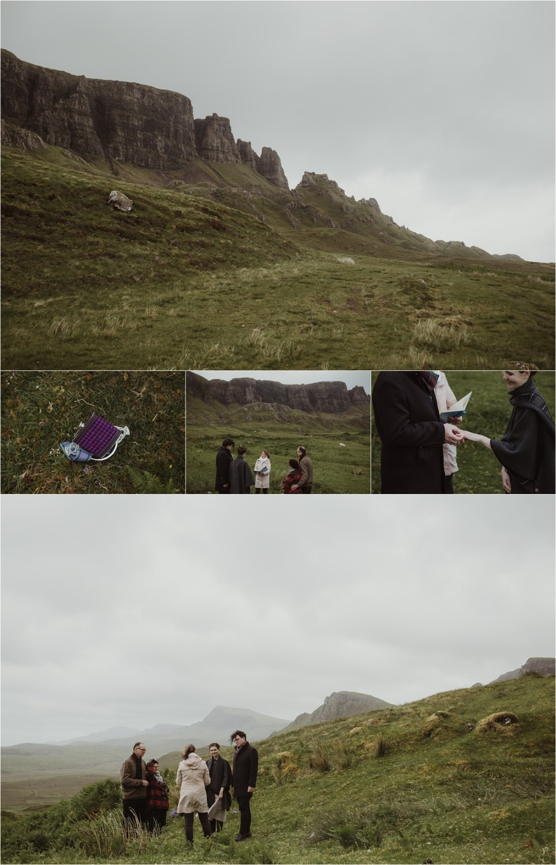 A handfasting elopement ceremony on the Isle of Skye. Photographed by Maureen du Preez