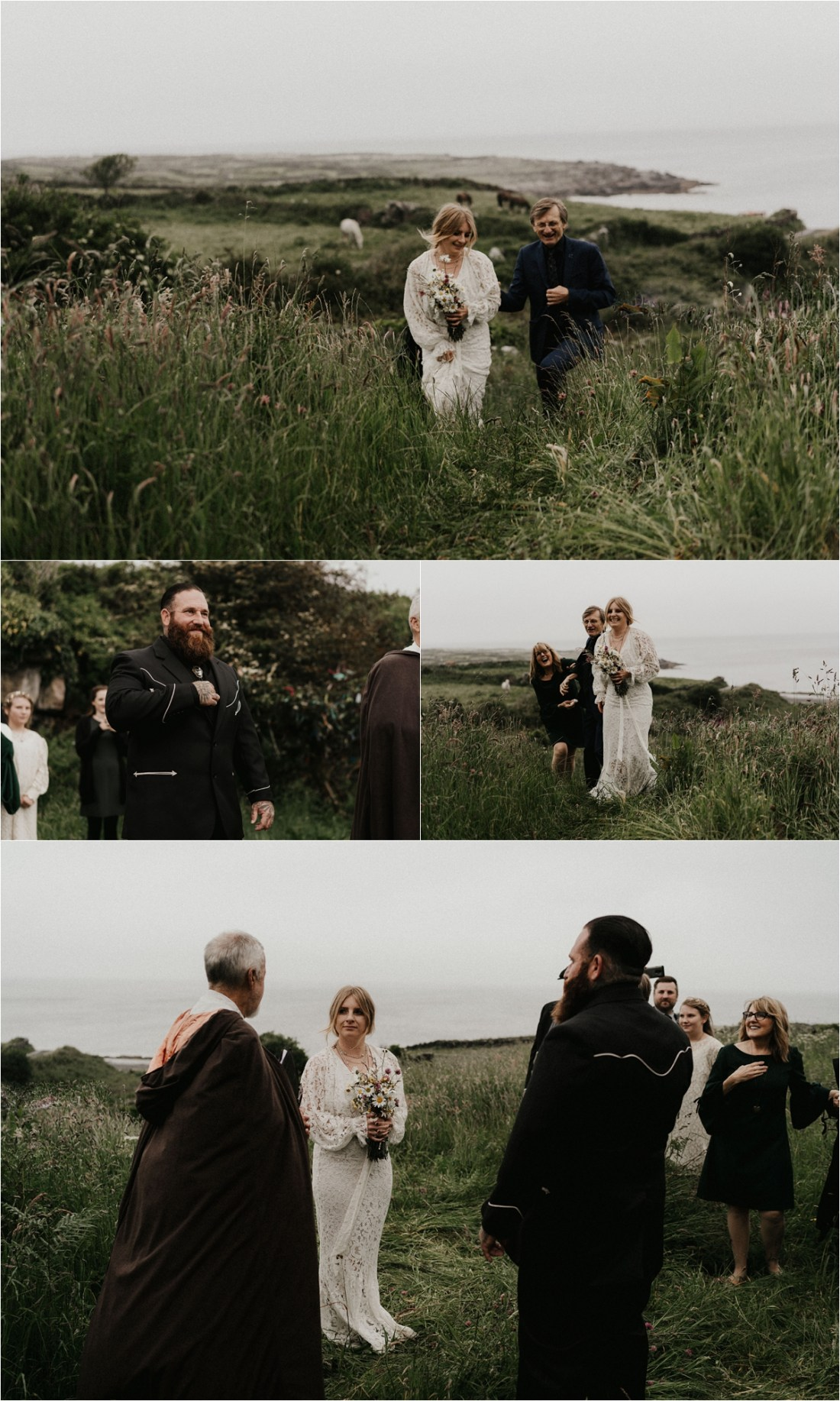 A celtic elopement ceremony on the Aran Islands by Emily Black Photography