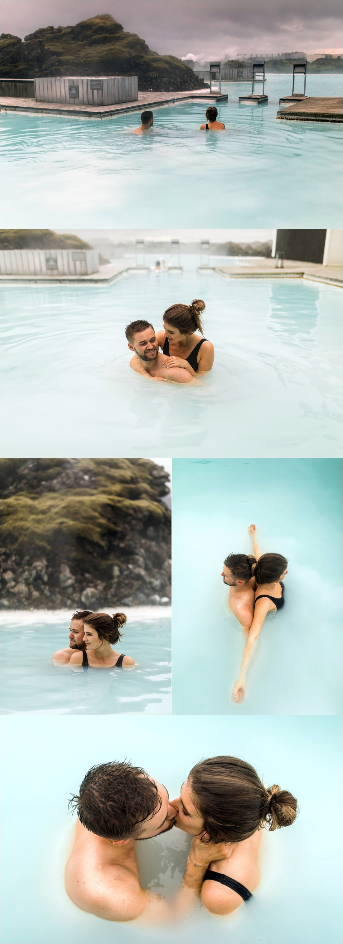 Couple shoot in the Blue Lagoon in Iceland by Bettina Vass