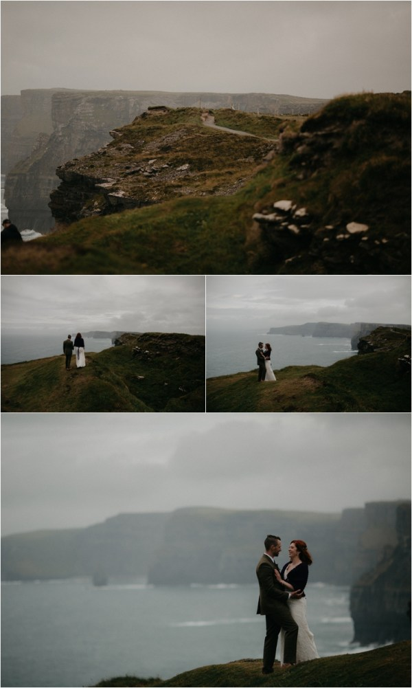 Cliff top Hand fasting of Jon and Sara, on the Cliffs of Moher, Co Clare, Ireland Captured by Photographers Seandkate Jon & Sara walk along the clifftops of Moher