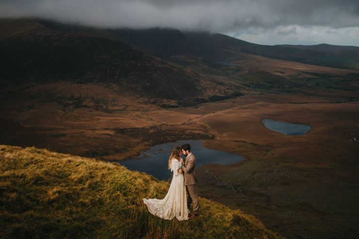 Wedding Photographs in Ireland, Adventure Wedding Photographers In Ireland