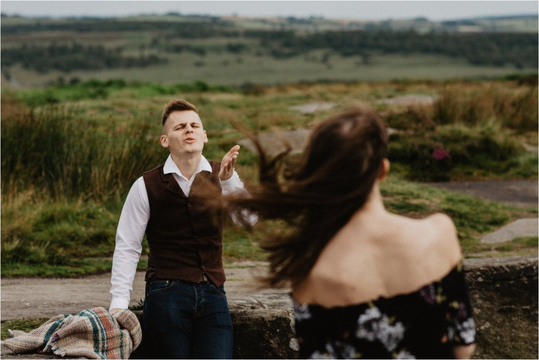 Peak District, An Adventurous Engagement Session in the Peak District in England