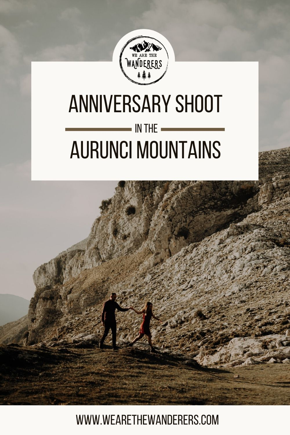 Pinterest Pin for Anniversary Shoot in the Aurunci Mountains - Rita Foldi