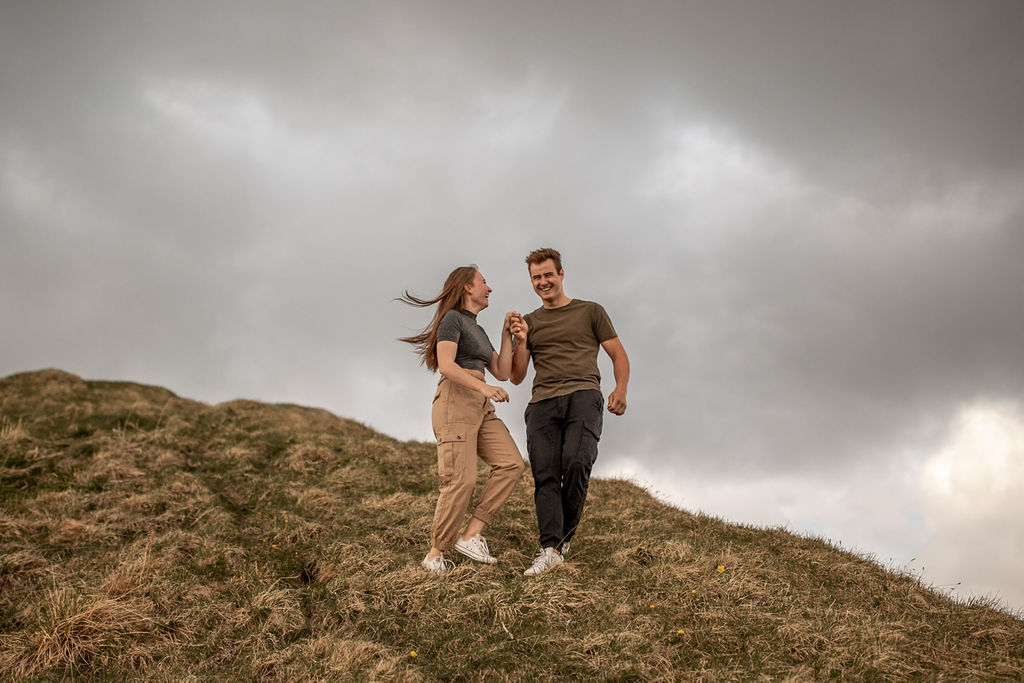 Photoshoot on Kanisfluh Mountain, Couple Photoshoot on the Kanisfluh Mountain in Austria