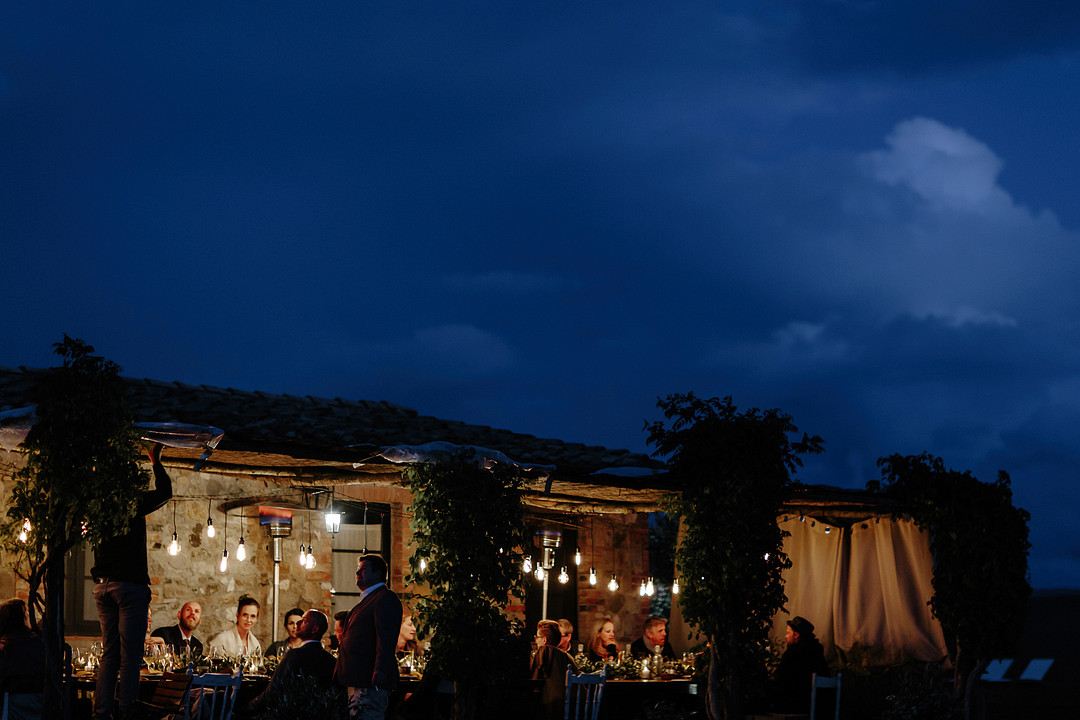 Tuscan style wedding dinner