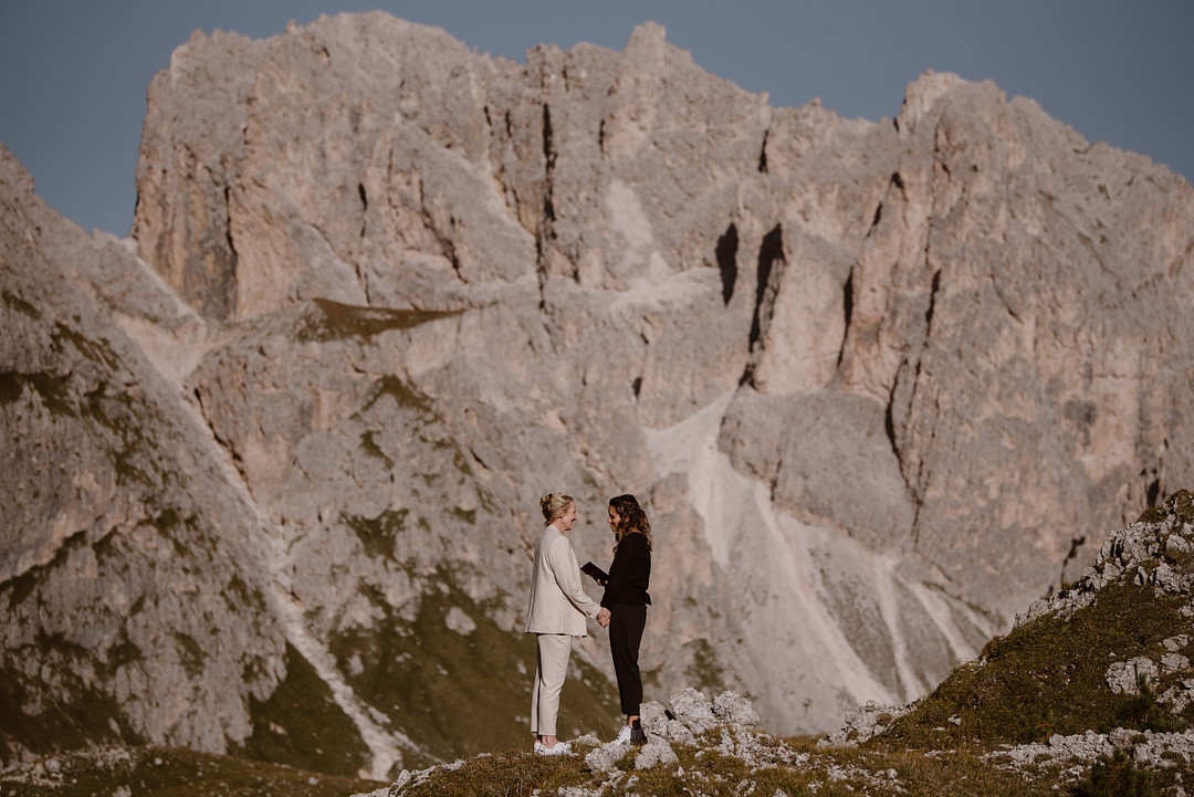 LGBTQ Elopement in the Italian Dolomites