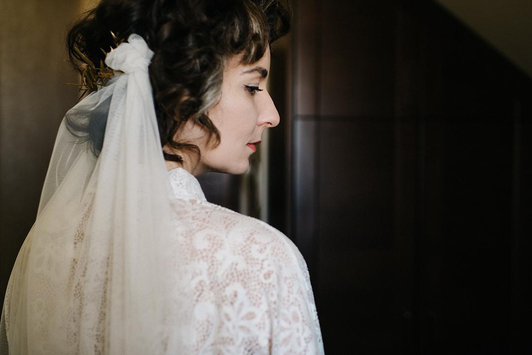 Handmade bridal vale
