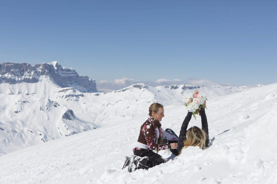 ski elopement, Ski Elopement in Mont-Blanc