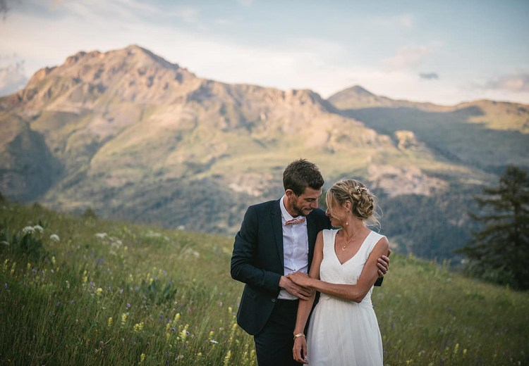 Summer Mountain Wedding in the French Alps