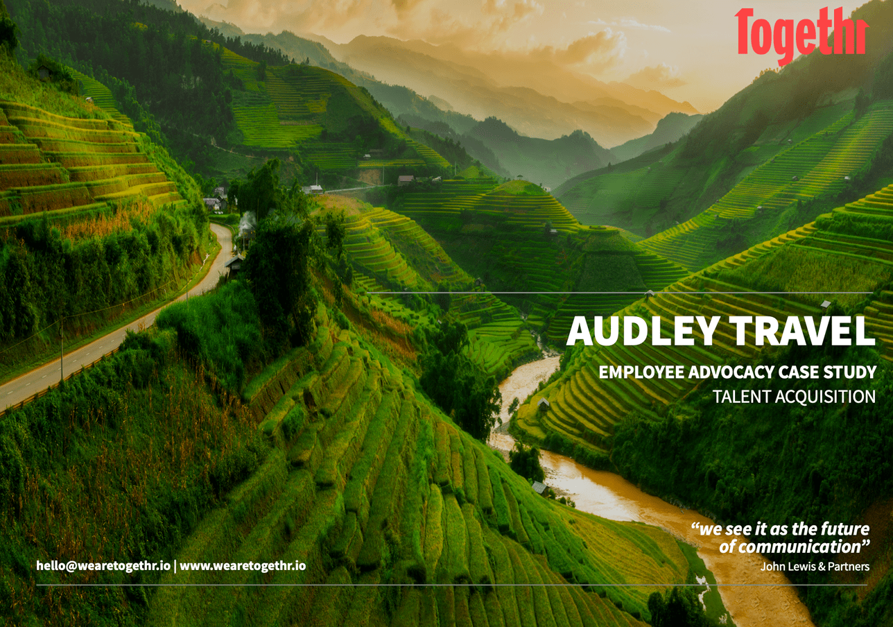 Audley Travel employee advocacy case study front cover
