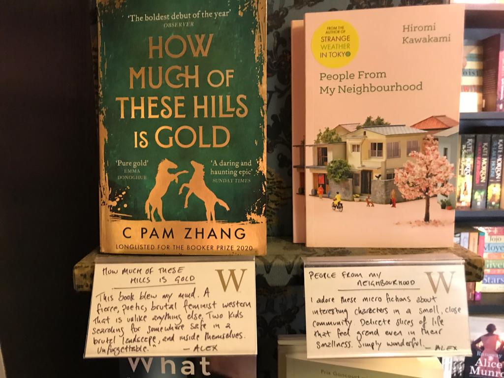 Staff recommendations at Waterstones