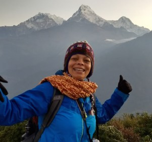 Audrey op reis alleen backpacken bergen india