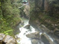 Baños tour, Pailon del Diablo waterval ecuador