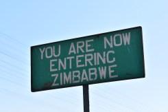 Backpacken van Botswana naar Zimbabwe grensovergang