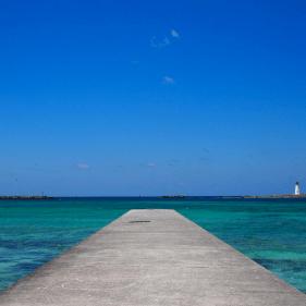 Bahamas eindeloos vuurtoren zee nassau