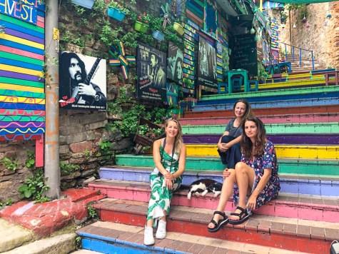 Balat Istanbul regenboog trappen