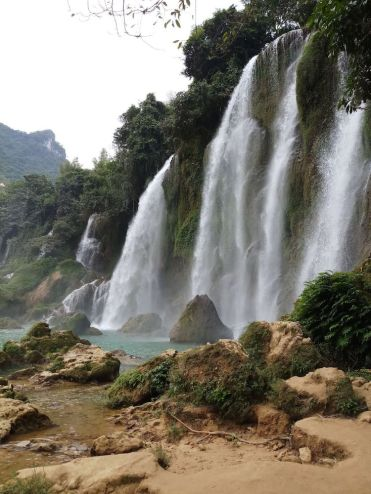 Ban Gioc Waterfall watervallen in vietnam china grens