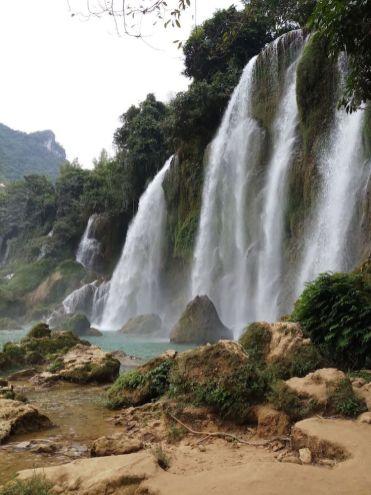 Ban Gioc Waterfall watervallen in vietnam china grens