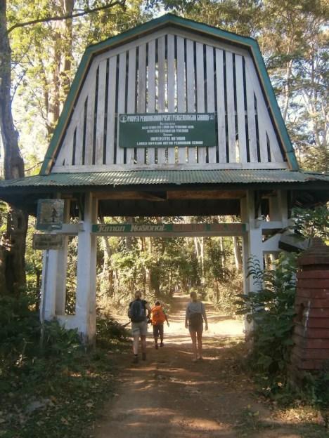 Begin trekking Rinjani