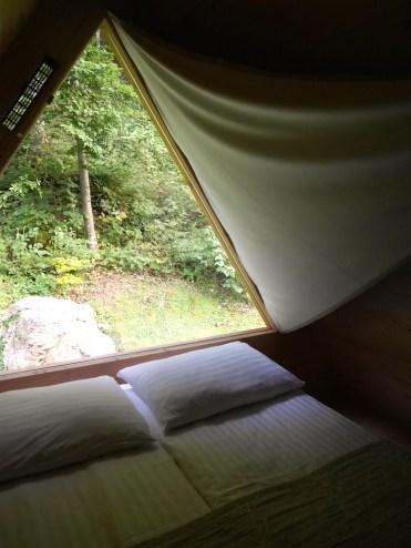 Binnen in onze glamping hut lake bled slovenie