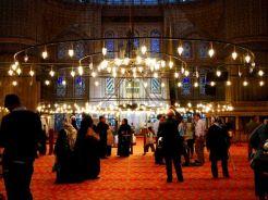 Blauwe moskee binnen
