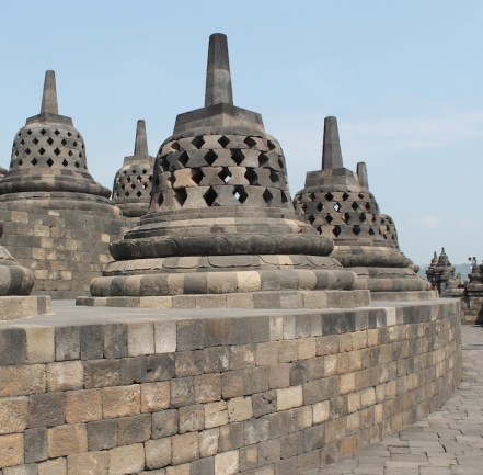 Borobudur stoepas op de top java hoogtepunt