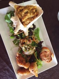 Creools eten uit een schelp Guadeloupe