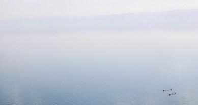 Drijven in de Dode Zee Jordanie
