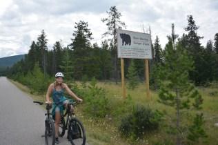 Fietsen beren West Canada