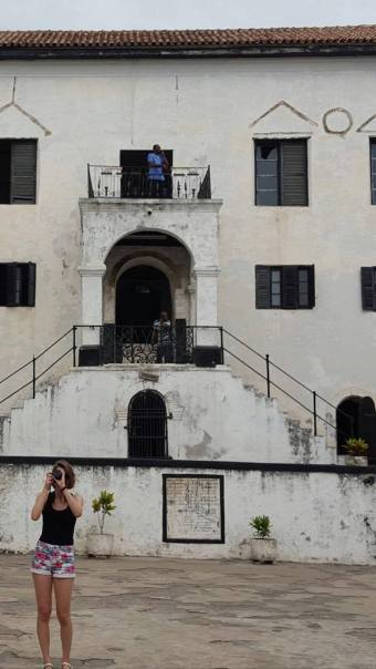 Fort Ghana binnenplaats