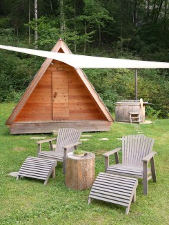 Glamping hut in lake bled slovenie