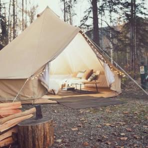 Glamping tent in het plaatsje golden