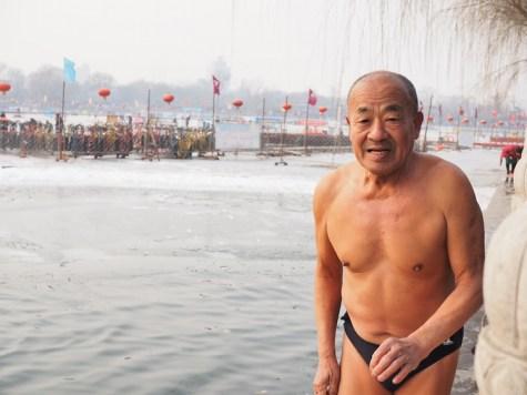 winter beijing zwemmen
