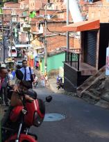 In de straten van Medellin colombia