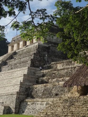 Inscripties palenque tempel mexico