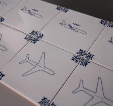 KLM tegels veiligheidsinstructie