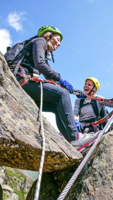Klettersteigen op de top in stubaital