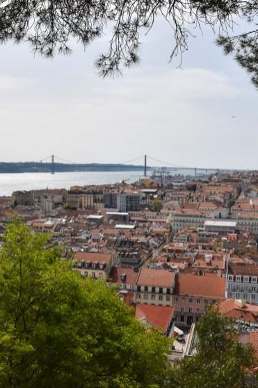 Lissabon tram view miradouro