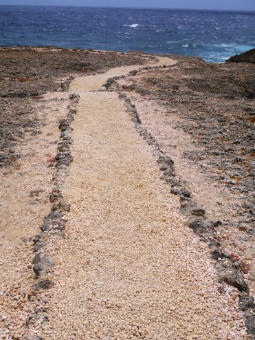 Lopen naar Shete boka Curacao