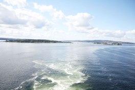 Met de auto naar Noorwegen het Uitzicht ferry
