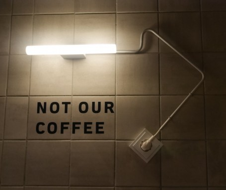 Not our coffee kaboom hotel