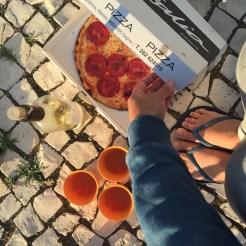 Pizza camper uitzicht