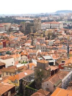 Porto huizen uitzicht