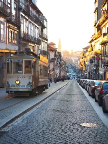 Porto tram centrum