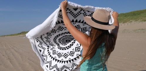 Ronde handdoek van hipps
